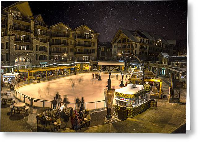 The Village At Northstar Greeting Card by Jeremy Jensen