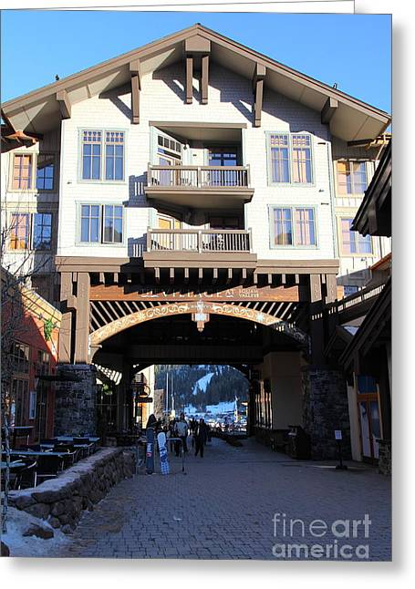 The Village At Squaw Valley Usa 5d27700 Greeting Card by Wingsdomain Art and Photography