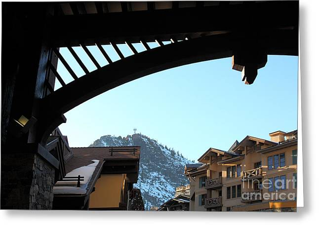 The Village At Squaw Valley Usa 5d27701 Greeting Card by Wingsdomain Art and Photography