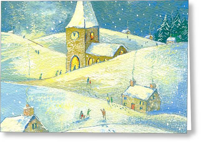 The Village Carol Service Greeting Card