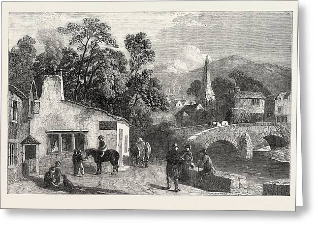 The Village Smithy, Exhibition Of The Society Of Painters Greeting Card