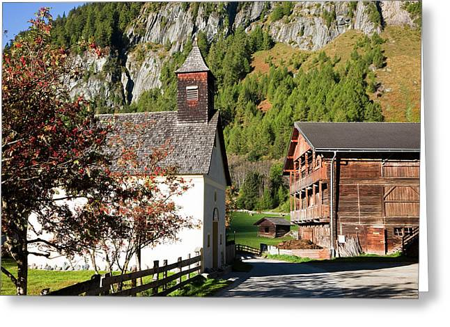 The Village Streden In Valley Greeting Card by Martin Zwick