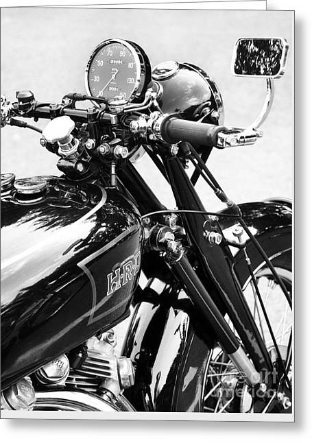 The Vincent Monochrome Greeting Card by Tim Gainey