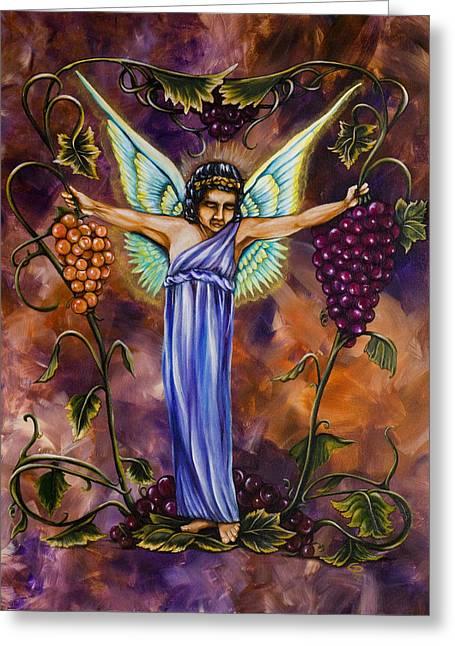 The Vine Dresser Greeting Card by Christine Maeda