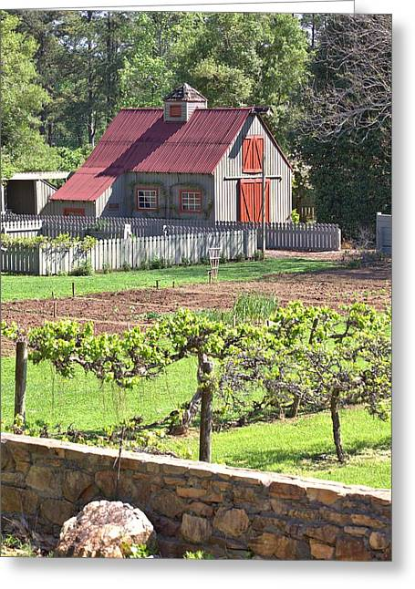The Vineyard Barn Greeting Card by Gordon Elwell