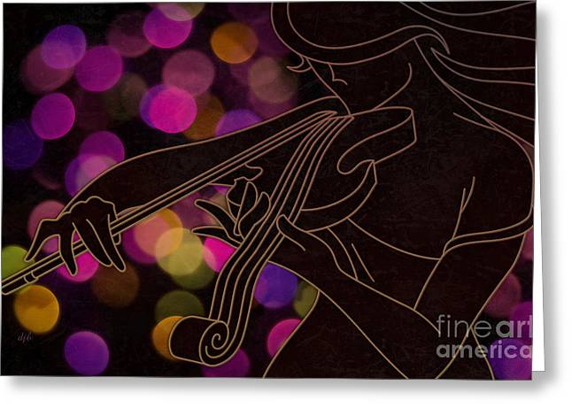 The Violinist Greeting Card by Bedros Awak