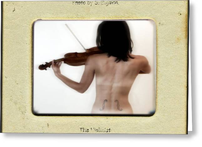 The Violinist  Greeting Card by Steven Digman