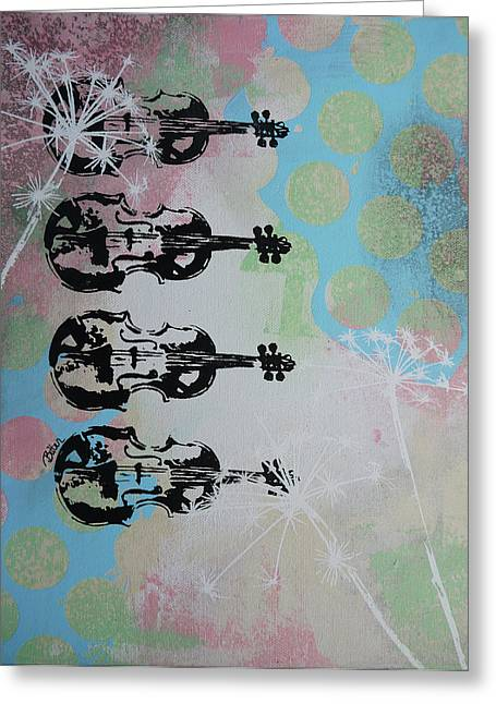 The Violins Greeting Card by Bitten Kari