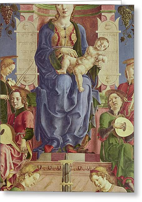 The Virgin And Child Enthroned Greeting Card by Cosimo Tura