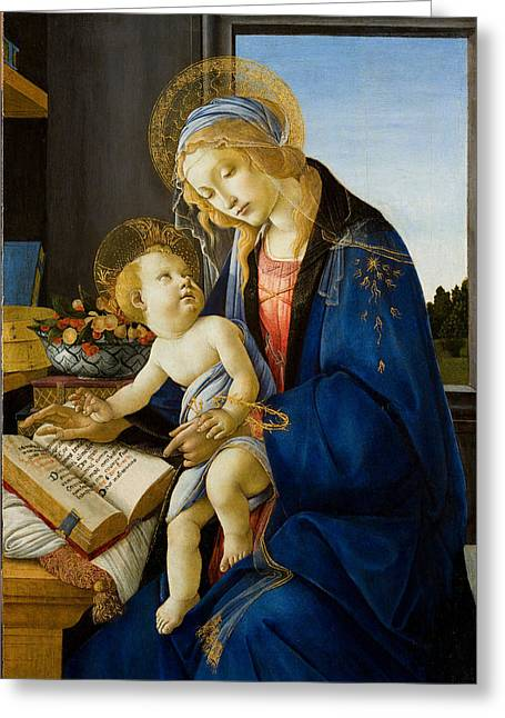 The Virgin And Child Greeting Card by Celestial Images
