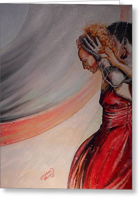 The Virgin Queen With Robert Dudley Greeting Card by Ottilia Zakany