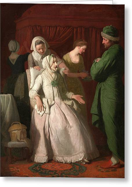 The Virtuous Comforted By Sympathy, Edward Penny Greeting Card by Litz Collection