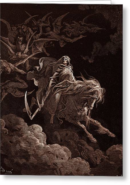 The Vision Of Death, By Gustave Dore, 1832 - 1883 Greeting Card