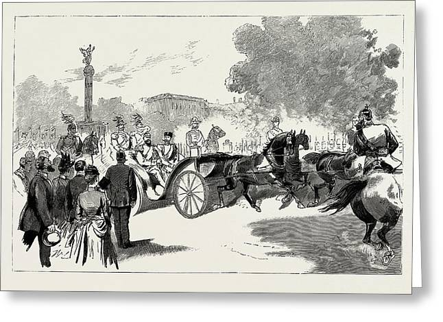 The Visit Of The Czar To The German Emperor At Berlin Greeting Card by Litz Collection