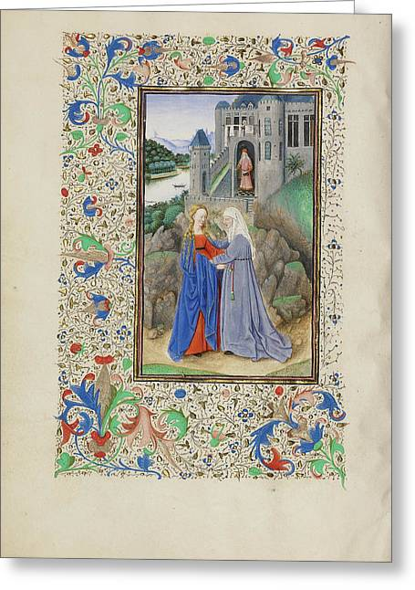 The Visitation Master Of The Llangattock Hours, Flemish Greeting Card by Litz Collection