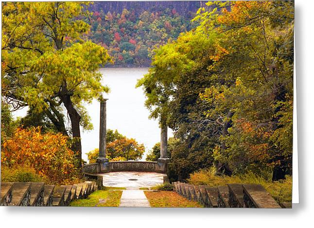 The Vista Steps In Autumn Greeting Card by Jessica Jenney