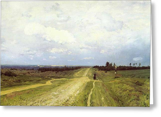 The Vladimirka Road Greeting Card by Isaak Ilyich Levitan