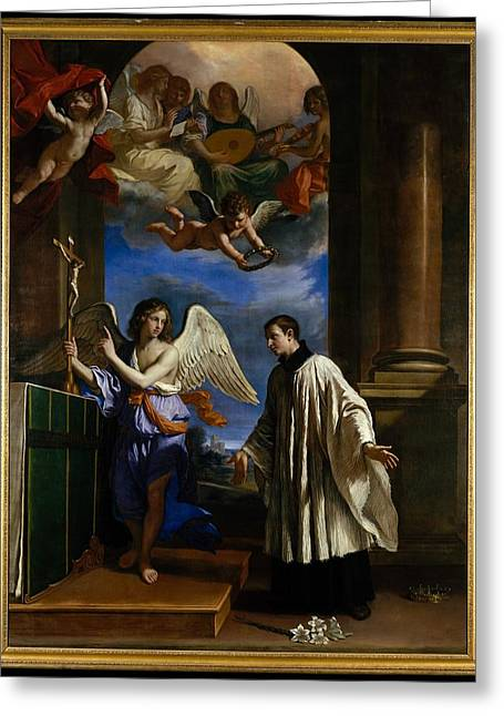 The Vocation Of Saint Aloysius Luigi Greeting Card by Guercino