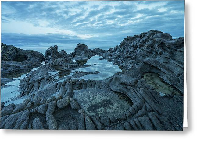 The Volcanic Bedrock Near Tow Hill Greeting Card by Robert Postma