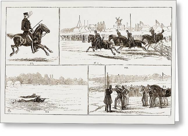 The Volunteer Camp At Wimbledon Uk 1873 Greeting Card