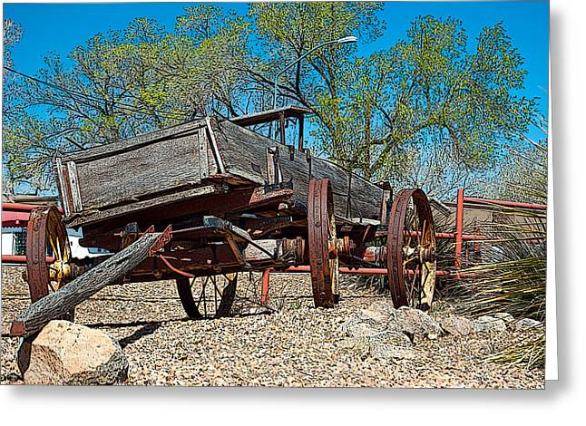 The Wagon Greeting Card by Don Durante Jr