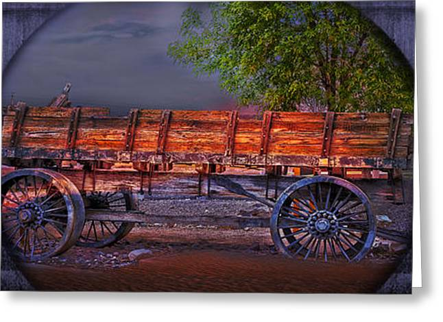The Wagon Greeting Card by Gunter Nezhoda