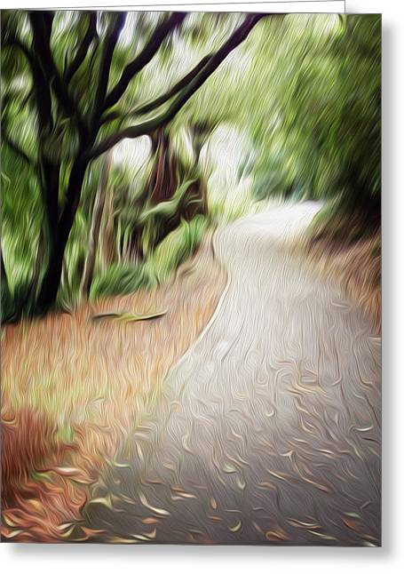 The Walk Greeting Card by Les Cunliffe