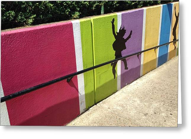 The Wall To Fun Greeting Card