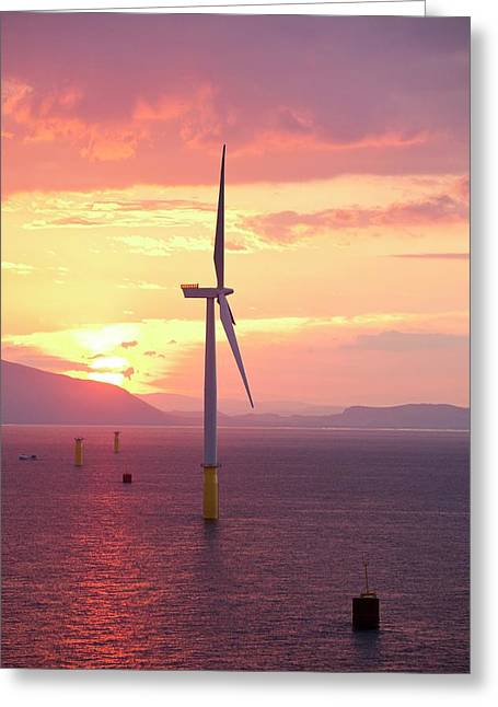 The Walney Offshore Windfarm Greeting Card