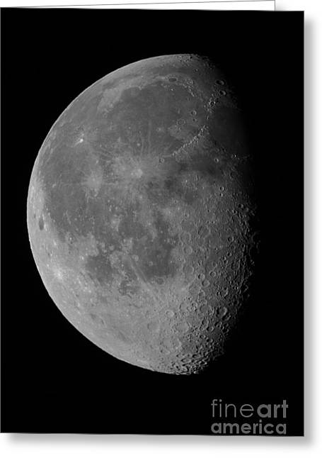 The Waning Gibbous Moon And Lunar Greeting Card by John Chumack