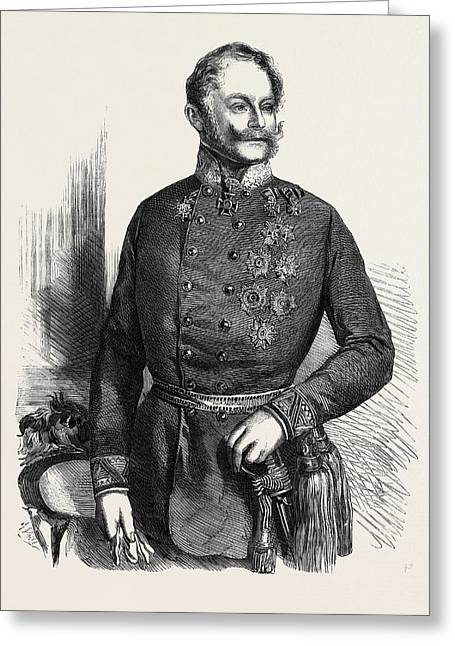 The War Count Gyulai Commander-in-chief Of The Austrian Greeting Card by Austrian School