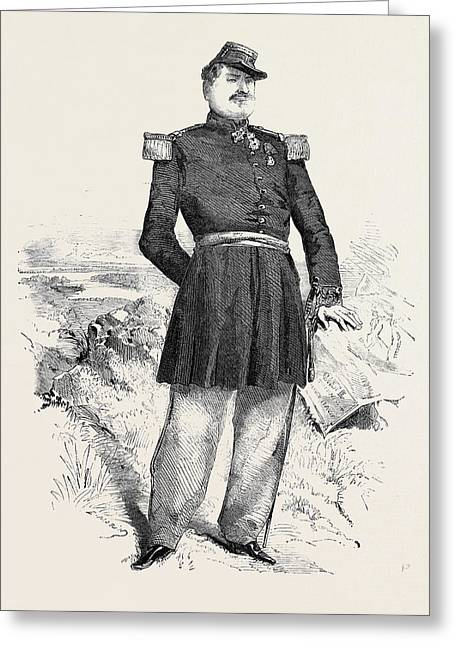 The War General Forey The Hero Of Montebello Greeting Card
