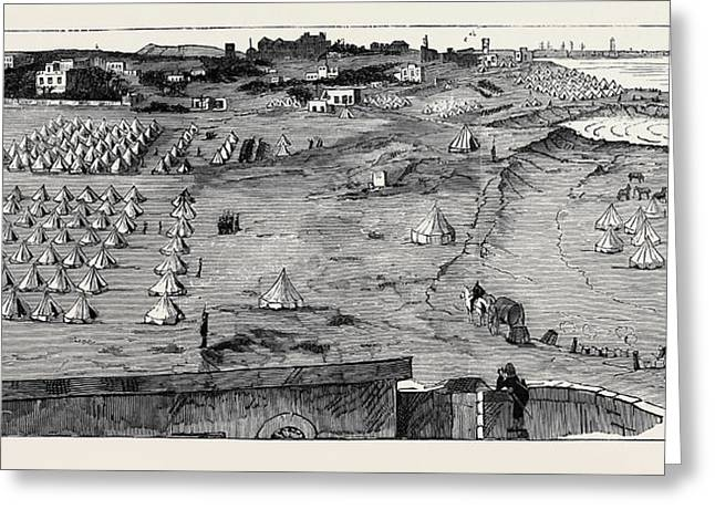 The War In Egypt The Camp Of The Highland Brigade At Ramleh Greeting Card by Egyptian School