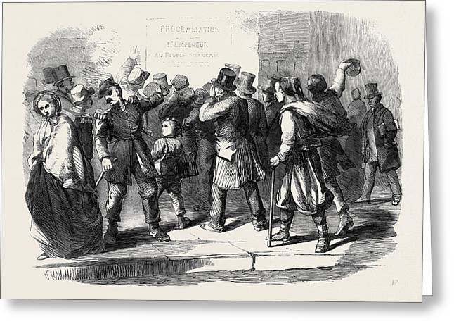 The War In Italy Reading The Emperor Napoleons Proclamation Greeting Card