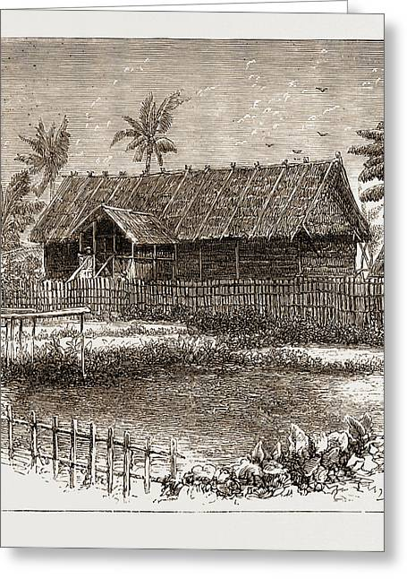 The War In The Malay Peninsula, 1876 Temporary Residency Greeting Card