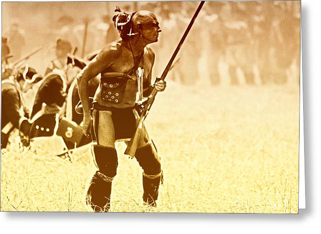 The Warrior Greeting Card by Jim Cook