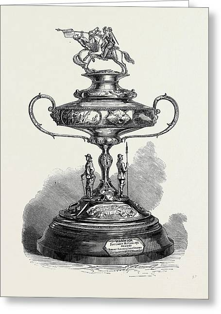The Warwick Race Cup 1871 Greeting Card
