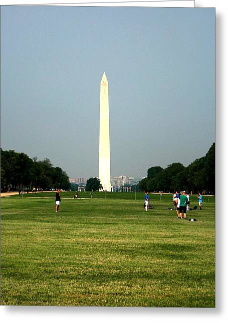 The Washington Monument Greeting Card by Jeanette Rode Dybdahl