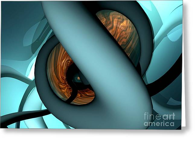 The Watcher Abstract Greeting Card by Alexander Butler