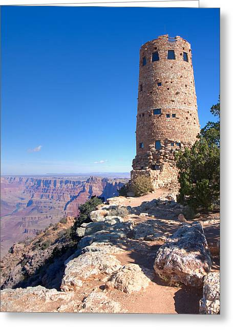 Greeting Card featuring the photograph The Watchtower by John M Bailey