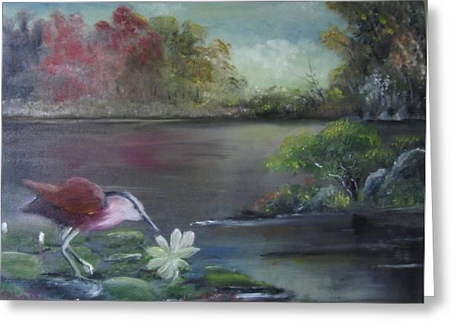 The Water Bird Greeting Card by M Bhatt