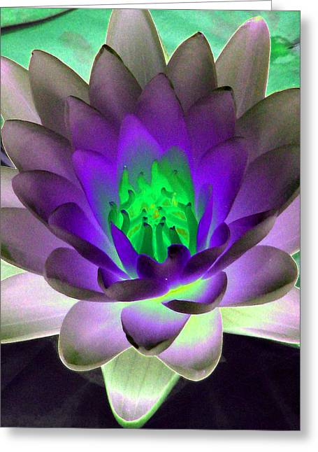 Greeting Card featuring the photograph The Water Lilies Collection - Photopower 1115 by Pamela Critchlow
