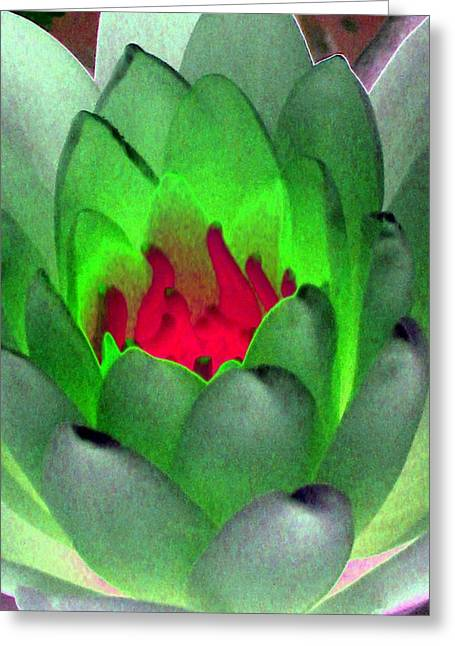 Greeting Card featuring the photograph The Water Lilies Collection - Photopower 1122 by Pamela Critchlow