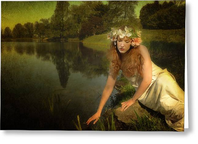 The Water Maiden Greeting Card by Dick Wood