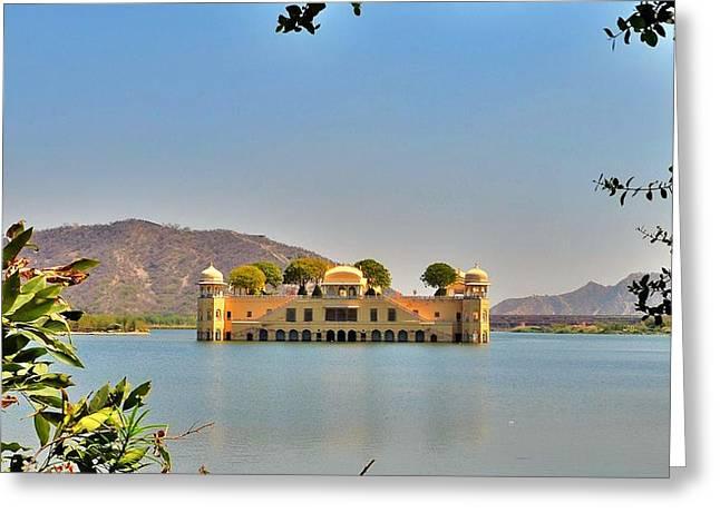 The Water Palace At Jaipur - India Greeting Card