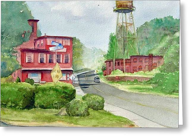 The Water Tower Greeting Card by Katherine  Berlin
