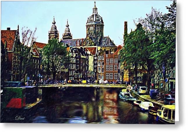 The Water Way Amsterdam Greeting Card by Dmt