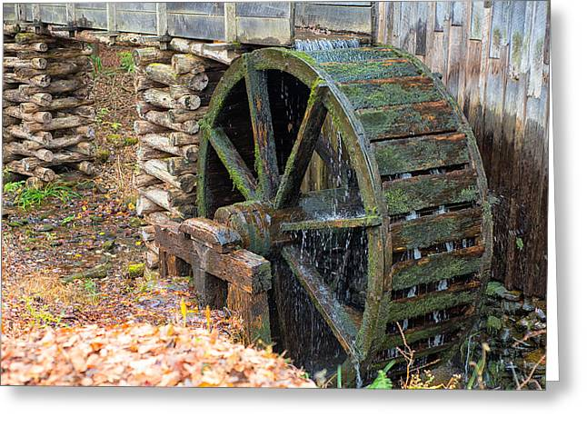 The Water Wheel At Cable Grist Mill Greeting Card