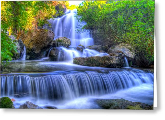 The Waterfall I Greeting Card by Alexandre Martins