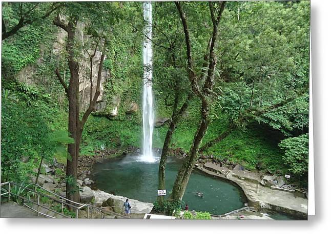 The Waterfalls Greeting Card by Fladelita Messerli-